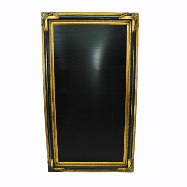 Large vintage black and gold frame. For displaying signs and seating plans.