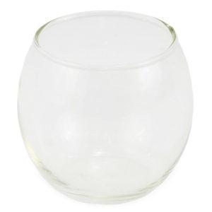 Round clear votive tealight.