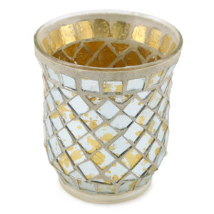 Mosaic tealight votive.