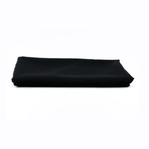 Black square tablecloth - 1.4m x 1.4m. Can be used as an overlay.