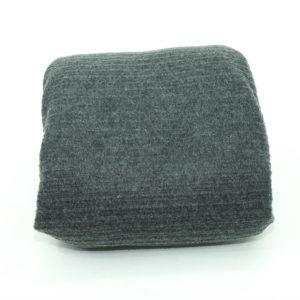 Grey blanket.