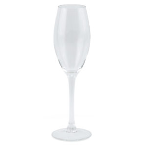 Glass champagne flute.