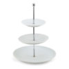 White 3 tier cupcake stand.