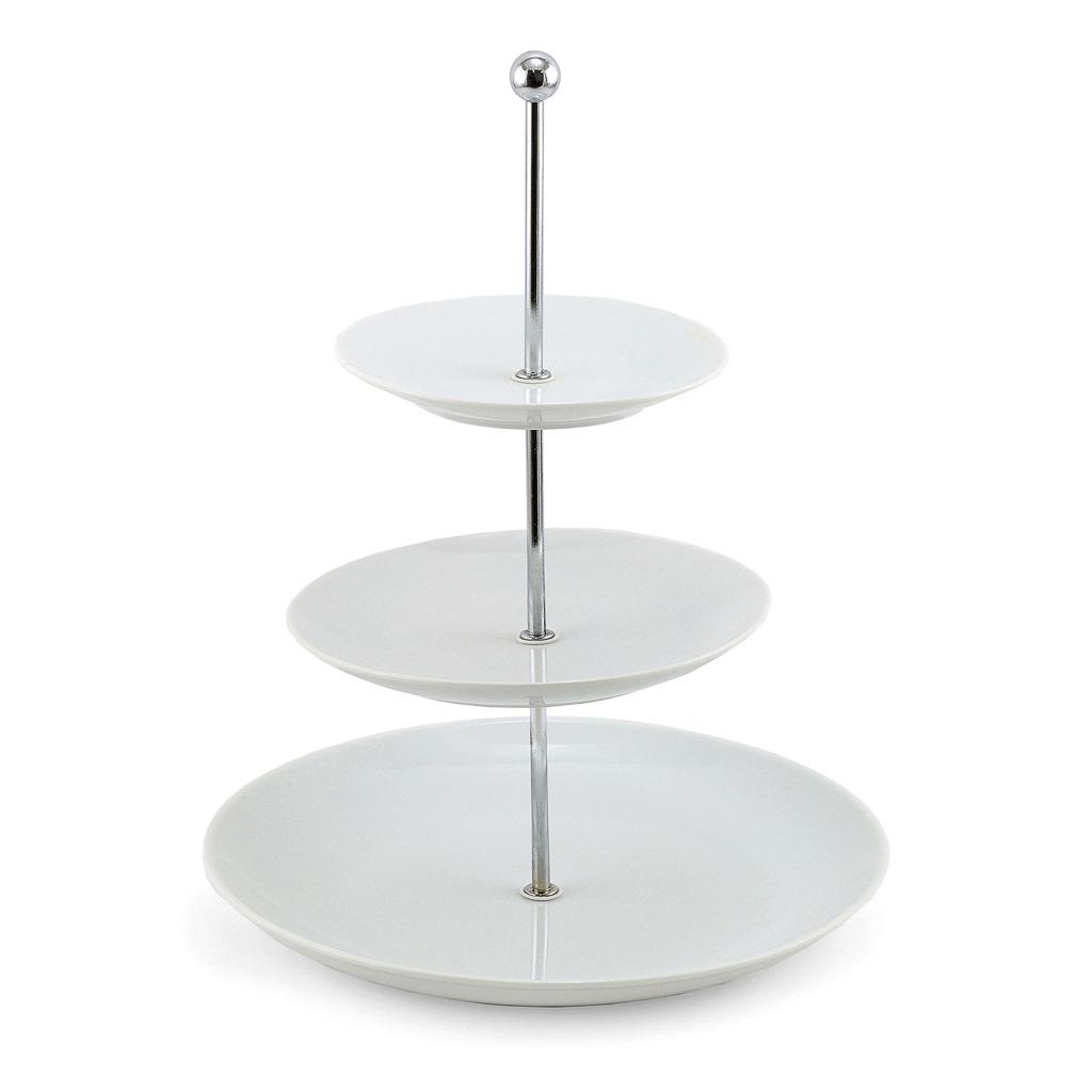 White 3 tier cupcake stand.