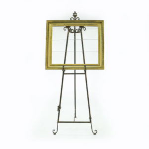 Vintage gold frame for use to display signs or seating plans. Easel not included.