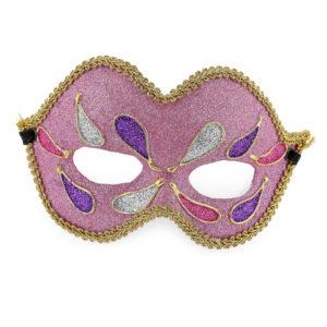 Pink glitter mask.