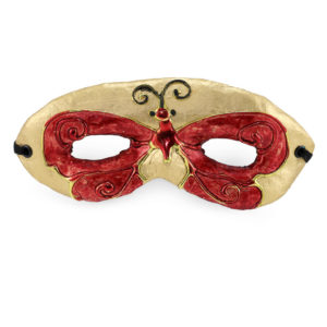 Red and gold butterfly mask.