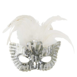 Silver sequined masks.