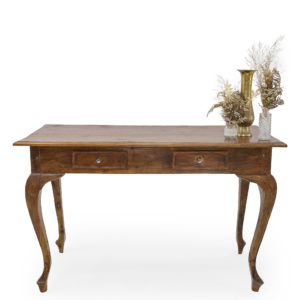 Antique timber registration table.