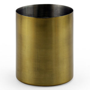 Brass candle holder.