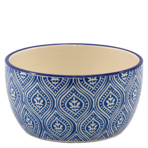 Blue and white Chinese style ceramic bowl.