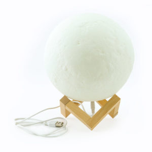 Moon lamp for decorative lighting or creating table centrepieces.