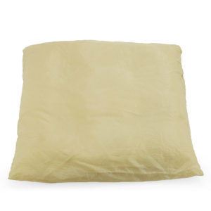 Beige satin cushion.