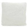 White knitted cushion.