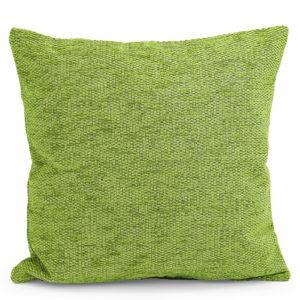 Green woven cushion.