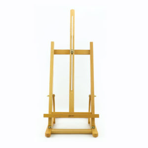 Medium natural timber Easels for displaying signage.