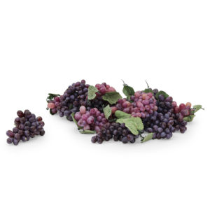 Bunches of purple grapes. Realistic size and look.