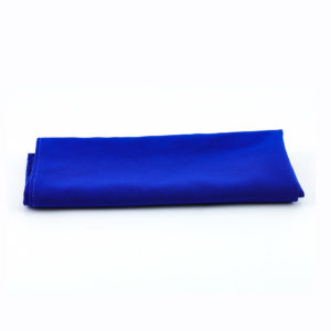 Cobolt blue napkins.