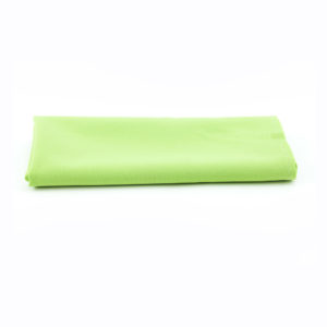 Light green napkins.