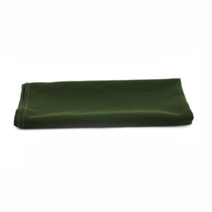 Army green napkins.