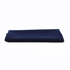 Navy tablecloth - 1.4m x 1.4m. Can be used as an overlay.
