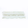 White crochet table runner.