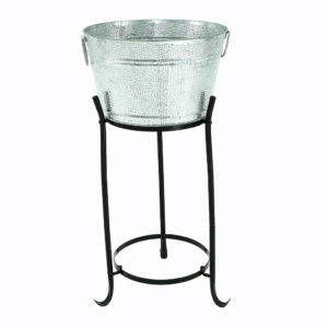 Ice bucket - dimpled. Has matching stands. 