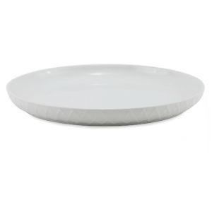 White dinner plates.