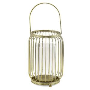 Gold wire lantern.