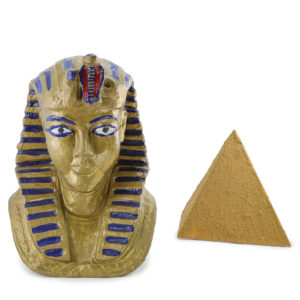King Tutankhamun's gold head statue.