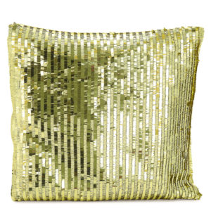 Gold sparkle cushion.