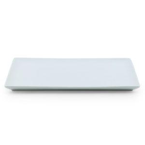 White rectangular platter.
