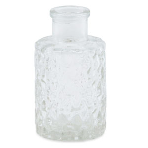 Small decorative glass perfume bottle.