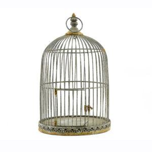 Rustic birdcage.