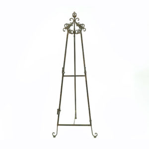 Wrought iron easel.