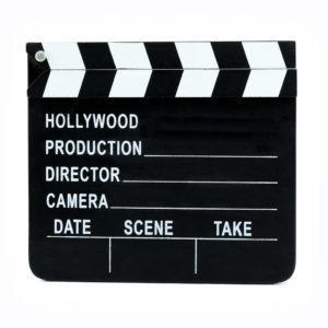 "Movie ""Action"" clapper board."
