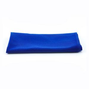 Blue napkins.