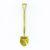 Gold plated shovel for sod turning ceremonies.
