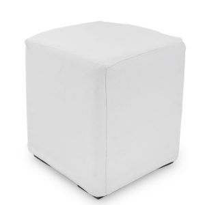 White ottoman covers.