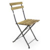 Traditional timber foldout bistro chair.