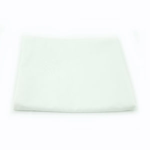 White cotton registration table cover. 1.2m x 1.3m.