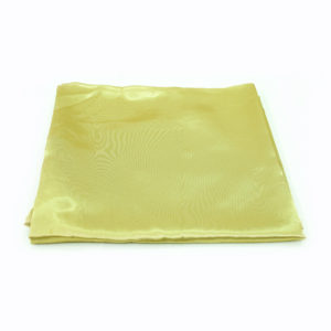 Gold round satin tablecloth. 2.7m.