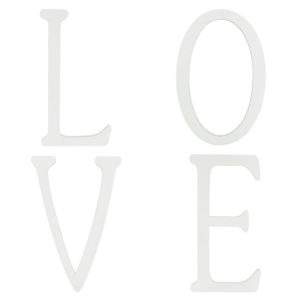 "Large vintage white ""Love"" letters."