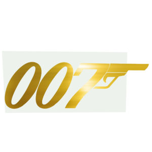 Large James Bond 007 backdrop/sign.