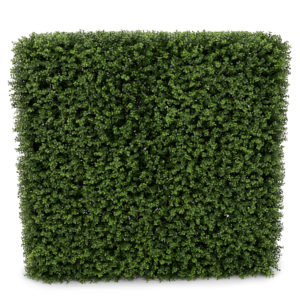 Faux green hedge.