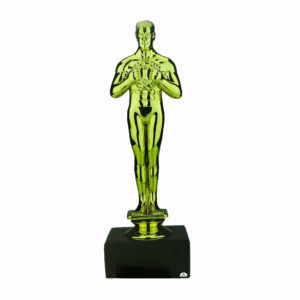 Lifesize gold oscar award statue.