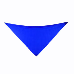 Blue 3-point lycra sails.
