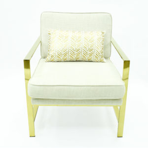 Gold and white lounge chair for a classy addition to your event.