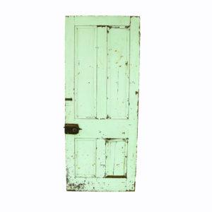 Green vintage door.