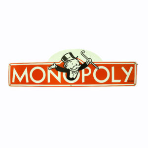 Large Monopoly corflute sign.